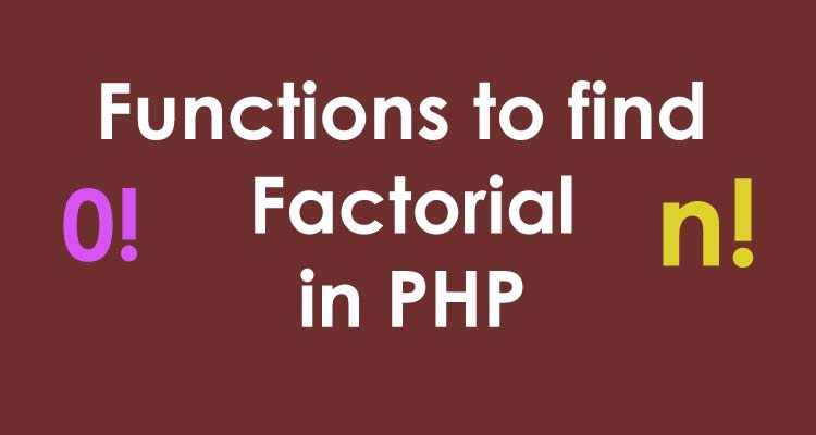 Factorial in PHP